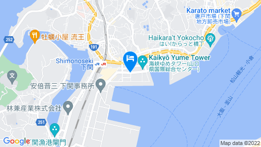 Dormy Inn Premium Shimonoseki Natural Hot Spring Map
