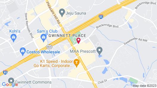 Fairfield Inn & Suites by Marriott Atlanta Gwinnett Place Map