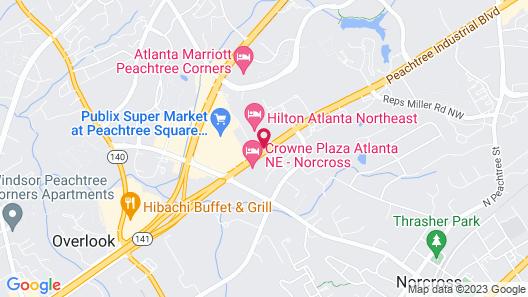 Hilton Atlanta Northeast Map