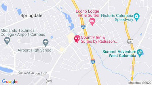 Country Inn & Suites by Radisson, Columbia Airport, SC Map