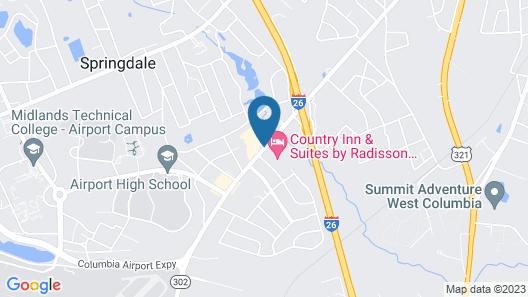 Sleep Inn Airport Map