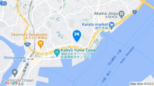 Skyheart Hotel Shimonoseki Map