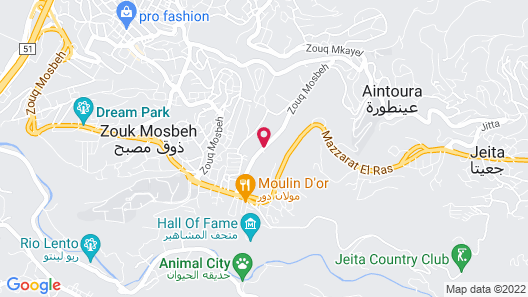 Damask Rose Lebanese Guest House Map