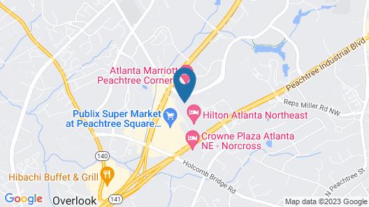 Hampton Inn Peachtree Corners Norcross Map