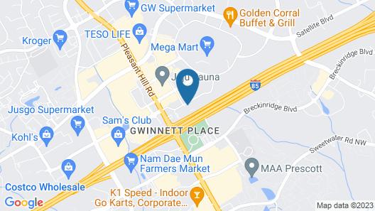 Sonesta Select Atlanta Duluth Gwinnett Mall Map