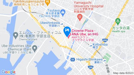 ANA Crowne Plaza Ube, an IHG Hotel Map