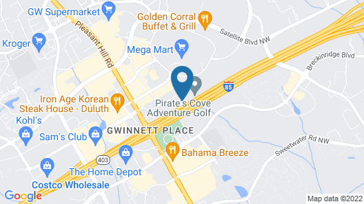 Extended Stay America Suites Atlanta Duluth Map