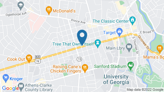 Americas Best Value Inn Athens, GA Map