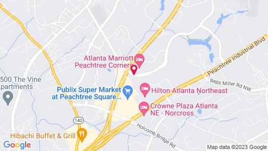 Homewood Suites Atlanta - Peachtree Corners/Norcross Map
