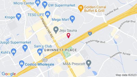 Wingate by Wyndham - Gwinnett Place Mall Map