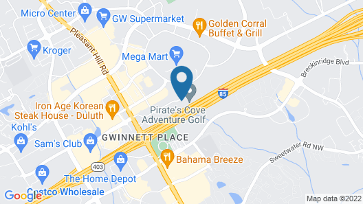 Extended Stay America Suites Atlanta Gwinnett Place Map