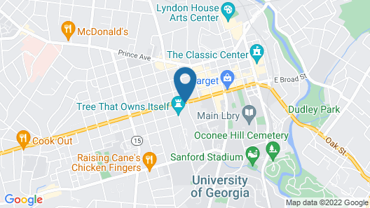 Holiday Inn Express Athens, an IHG Hotel Map