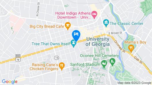 Holiday Inn Express Athens Map