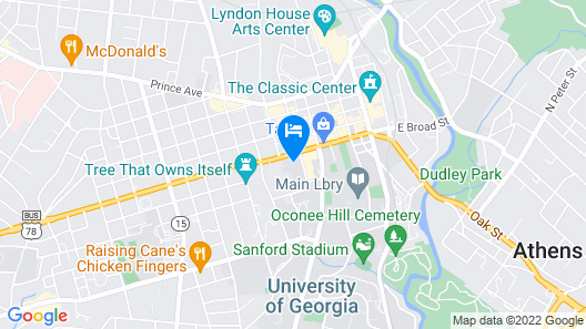 SpringHill Suites by Marriott Athens Downtown/University Area Map