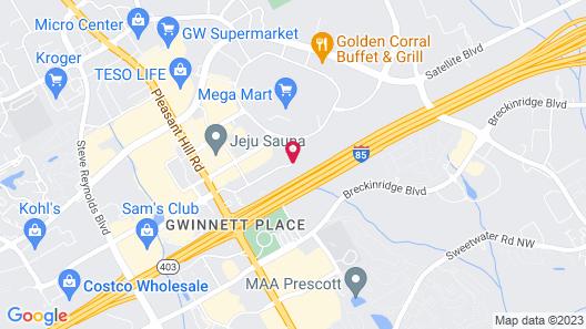 Extended Stay America - Atlanta - Gwinnett Place Map