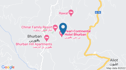 Pearl Continental Bhurban Map