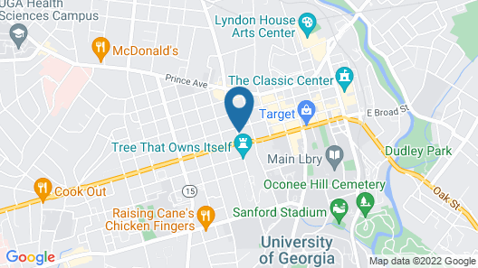 Courtyard by Marriott Athens Downtown Map