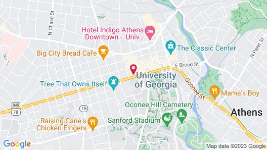 Georgia Gameday Center Map