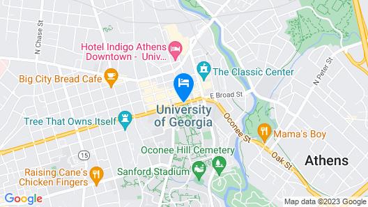 Holiday Inn Athens-University Area Map