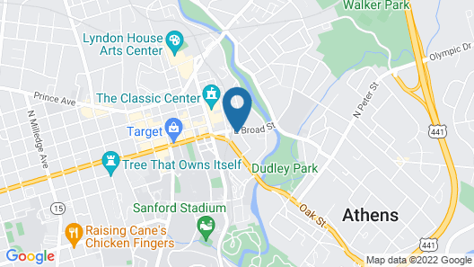 Homewood Suites by Hilton Athens Map