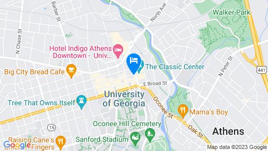 Hilton Garden Inn Athens Downtown Map