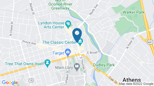 Hyatt Place Athens/Downtown Map