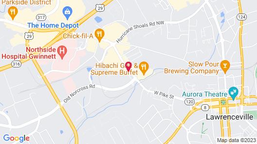 HomeTowne Studios by Red Roof Atlanta - Lawrenceville Map