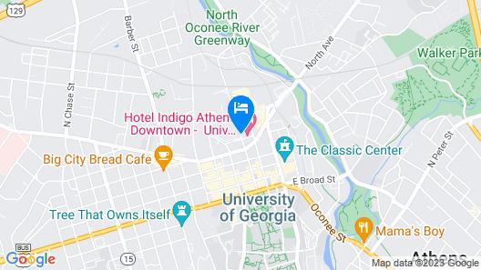 Hotel Indigo Athens University Area Map