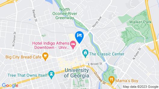 Graduate Athens Map