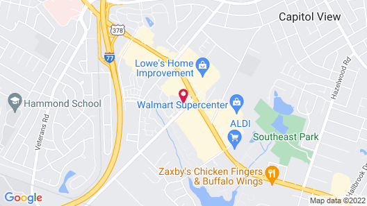 Candlewood Suites, Columbia/Ft. Jackson, an IHG Hotel Map