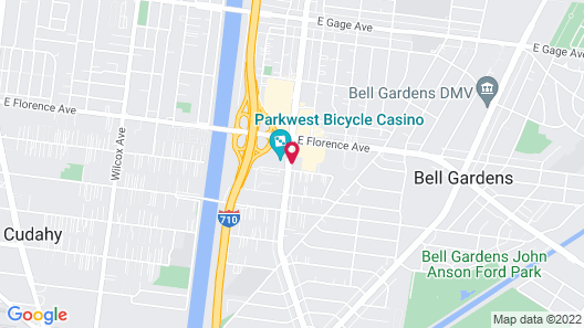 Quality Inn & Suites Bell Gardens-Los Angeles Map