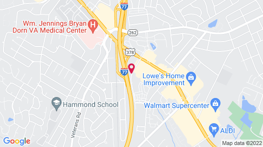 Hampton Inn & Suites Columbia/Southeast-Ft. Jackson Map
