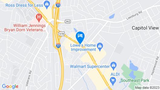 Comfort Inn & Suites Ft. Jackson Maingate Map