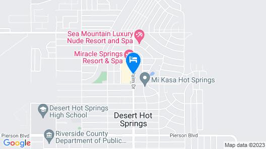 Desert Hot Springs Spa Hotel Map