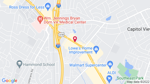 Days Inn & Suites by Wyndham SE Columbia Ft Jackson Map