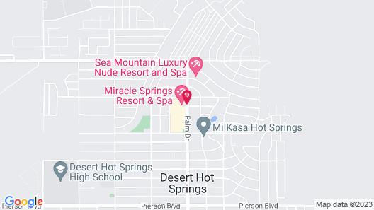 Miracle Springs Resort & Spa Map