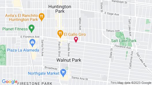 Casa Bella Inn- Huntington Park Map