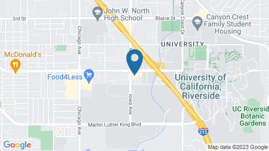 Motel 6 Riverside, CA - UCR East Map