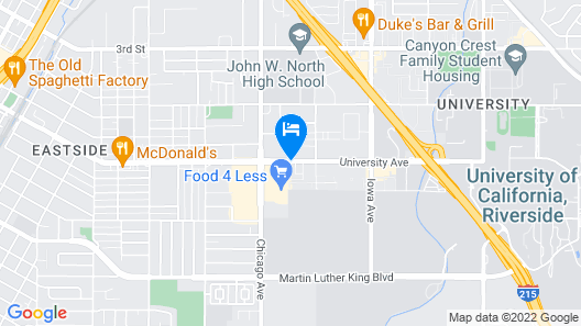 Quality Inn Riverside near UCR and Downtown Map