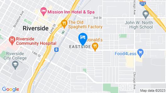 Thunderbird Lodge in Riverside Map