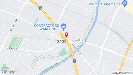 Quality Inn & Suites Montebello - Los Angeles Map