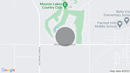 Lovely Oasis in Mission Lakes Country Club Map
