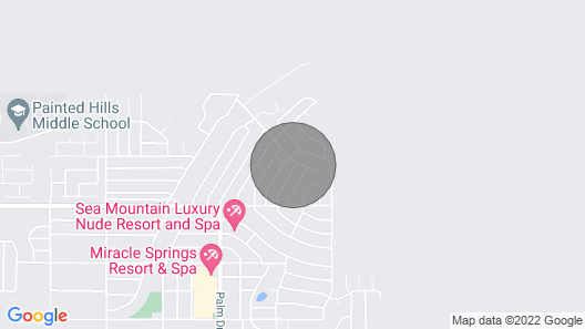 Minutes to Palm Springs Museums, Cafes, Nightlife! Thermal Spas & Hiking Nearby Map