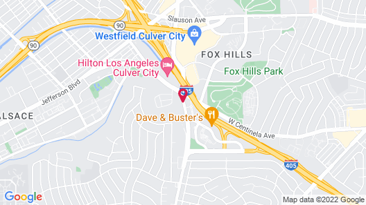 Extended Stay America Los Angeles - LAX Airport Map
