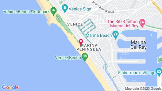 Venice on the Beach Hotel Map