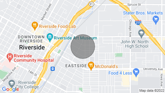 Unique Unit Newly Renovated Downtown Riverside Map
