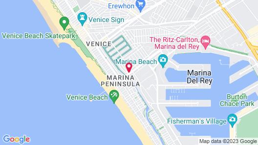 The Inn at Venice Beach Map