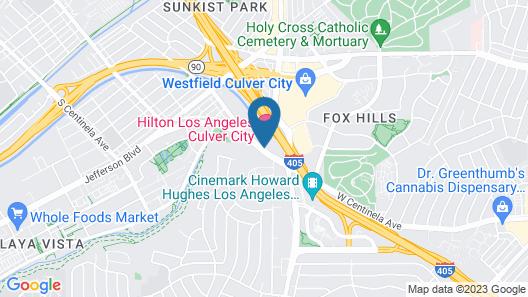 Hilton Los Angeles Culver City Map