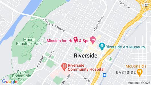Americas Best Value Inn Riverside Map