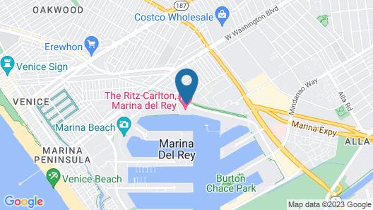 The Ritz-Carlton, Marina del Rey Map